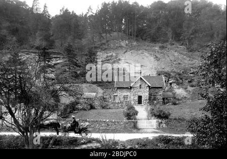Bonsall, Via Gellia, Tufa Cottage 1886 - Stock Photo