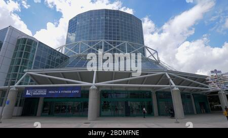 Los Angeles Convention Center in downtown - CALIFORNIA, USA - MARCH 18, 2019 - Stock Photo