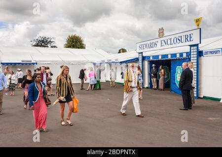 Stewards Enclosure at Henley Royal Regatta, Henley on Thames, Oxfordshire, England. GB, UK - Stock Photo