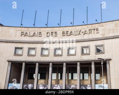 le Palais des Beaux-Arts de Charleroi, salle de spectacle et musée. Architecte Joseph André, Place du Manège in Charleroi, Belgium - Stock Photo