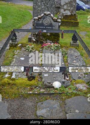 Rob Roy's grave, Balquhidder Church, Stirling, Highlands, Scotland - Stock Photo