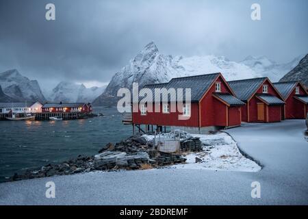 Beautiful Winter landscape in Lofoten Islands, Norway
