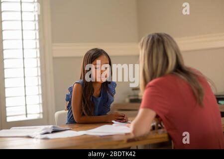 Teacher Helping Her Students With Their Homework School work.