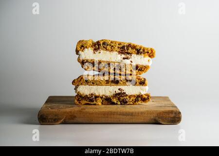 Chocolate Chip Cookie Vanilla Ice Cream Sandwich