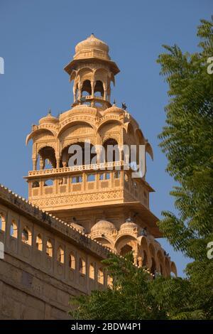 Tazia Tower Badal Vilas Mandir Palace Jaisalmer Rajasthan India