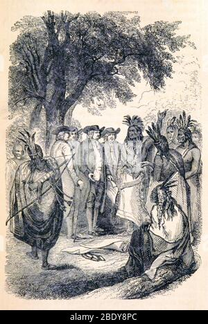 William Penn's Treaty with the Indians, 1683 Stock Photo