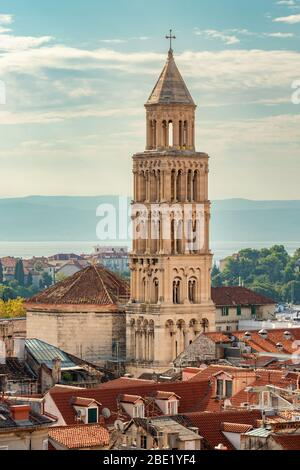 Bell tower in old town of Split