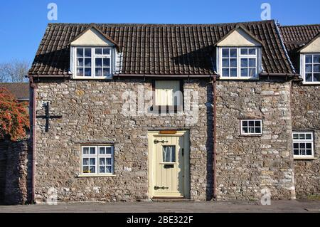 Stone cottage, Wickwar Road, Chipping Sodbury, Gloucestershire, England, United Kingdom - Stock Photo