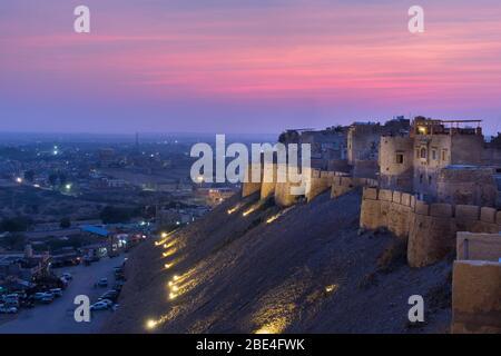 Twilight from Jaisalmer Fort Rajasthan India