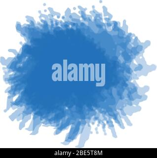 Blue watercolor background splash vector - Stock Photo