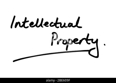 Intellectual Property handwritten on a white background.