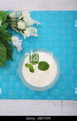 Caspian Sea Yogurt - Stock Photo