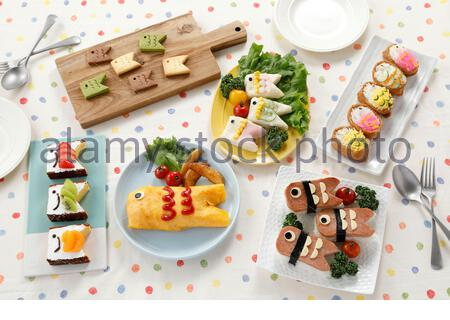 Koinobori shaped Cuisines - Stock Photo