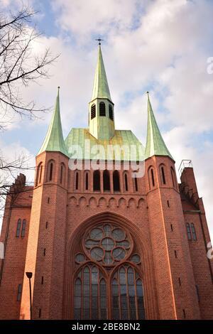 Apostel Paulus Church Kirche on Akazienstrasse in Schoneberg Berlin - Stock Photo