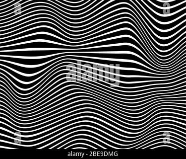Abstract background from black and white stripes - vector illustration Stock Photo