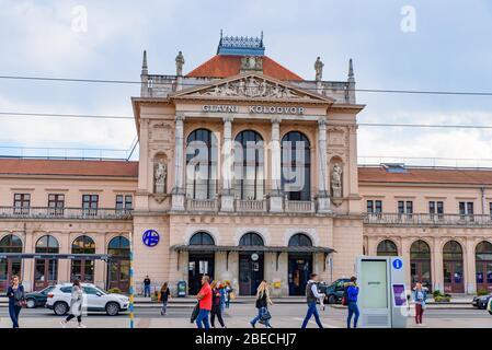 Zagreb Main Railway Station Stock Photo Alamy