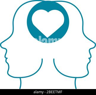 happy friendship day celebration couple love relation together vector illustration silhouette style icon