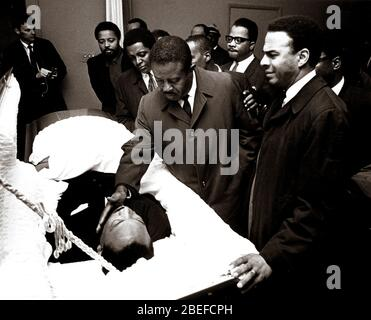 The funeral of slain civil rights minister Martin Luther King, Jr..Martin Luther King Jr. (born Michael King Jr.; January 15, 1929 – April 4, 1968) was an American Christian minister and activist who became the most visible spokesperson and leader in the Civil Rights Movement from 1955 until his assassination in 1968.