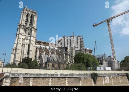 NOTRE DAME DE PARIS, RENOVATION WORK - Stock Photo