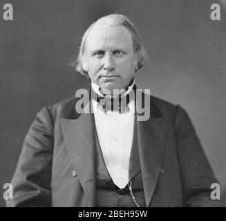 Henry Wilson, US Vice President, photo portrait seated. - Stock Photo