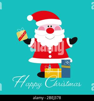 Santa Claus with Christmas presents vector illustration - Stock Photo