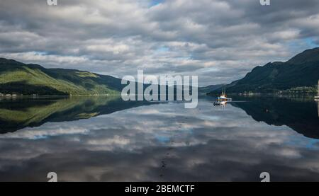 View over Loch Duich. - Stock Photo