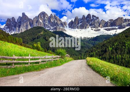 Incredible mountains in Val di Funes,Trentino,Italy.
