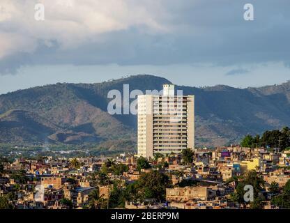 Cityscape of Santiago de Cuba, Santiago de Cuba Province, Cuba - Stock Photo
