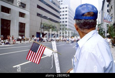 New York, U.S.A. - September 06,2003; Labor Day Parade when members of Unions march in the Labor Day Parade up 5th Avenue in New York City. - Stock Photo