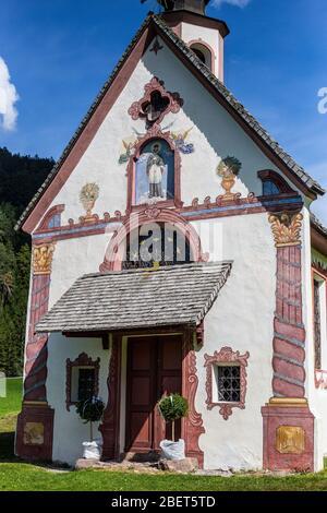 View of St Johann Church, Santa Maddalena, Val di Funes Stock Photo