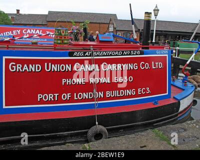 Grand Union Canal Carrying Co Ltd, Ellesmere Port Canal Museum, South Pier Rd, Ellesmere Port,Cheshire, England, UK,  CH65 4FW - Stock Photo