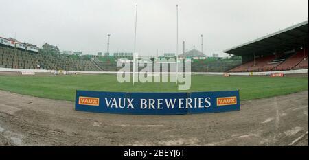 1993, Odsall Stadium Rugby League ground, Bradford, West Yorkshire, Northern England, UK - Stock Photo