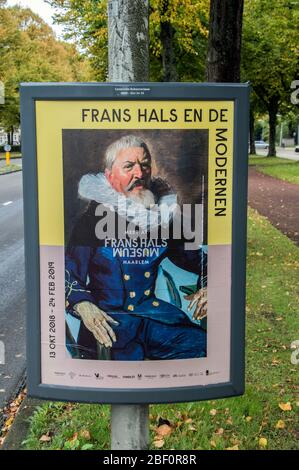 Centercom Billboard From The Frans Hals Museum Exhibition At Amsterdam The Netherlands 2018 - Stock Photo