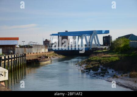 Clough road, Ferry Lane bridges over the river Hull, kingston upon Hull - Stock Photo