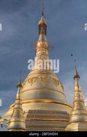 Golden domes at the Shwedagon Pagoda, Yangon, Myanmar