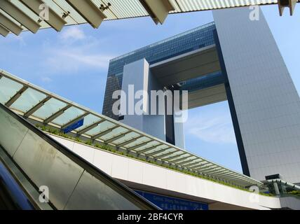 Central Government Complex of HKSAR in Admiralty, Hong Kong. Stock Photo