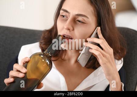 Drunk girl talking