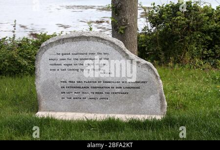 James Joyce memorial at Sandycove in the Republic of Ireland