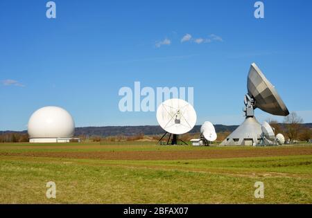 Raisting Germany telecommunication technology - Stock Photo