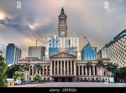 Brisbane City Council located adjacent to King George Square, Australia - Stock Photo