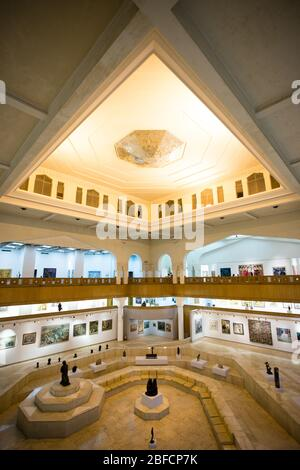 Interior of the Gezira Center for Modern Art in Cairo, Egypt.