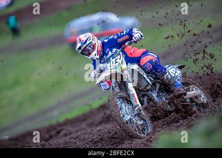 Winchester, Italy. 01st Mar, 2020. alberto forato team husqvarna junior maddii team during MXGP of Great Britain, Motocross in winchester, Italy, March 01 2020 Credit: Independent Photo Agency/Alamy Live News