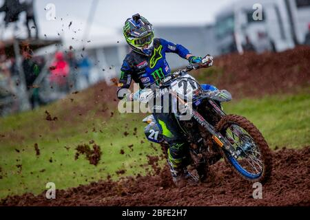 Winchester, Italy. 01st Mar, 2020. gautier paulin (fra) team yamaha factory during MXGP of Great Britain, Motocross in winchester, Italy, March 01 2020 Credit: Independent Photo Agency/Alamy Live News
