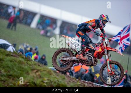 Winchester, Italy. 01st Mar, 2020. jorge prado (spa) ktm factory racing during MXGP of Great Britain, Motocross in winchester, Italy, March 01 2020 Credit: Independent Photo Agency/Alamy Live News