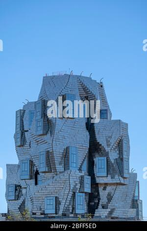 LUMA Arles culture center aluminium-clad building by architect Frank Gehry in Arles, France, Europe