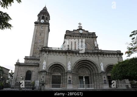 Manila Cathedral, Intramuros Manila, Philippines - Stock Photo