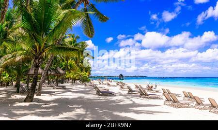 Tropical paradise in Mauritius island,Trou aux Biches.