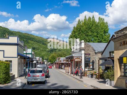 Buckingham Street, the main street in the historic gold mining town of Arrowtown, New Zealand