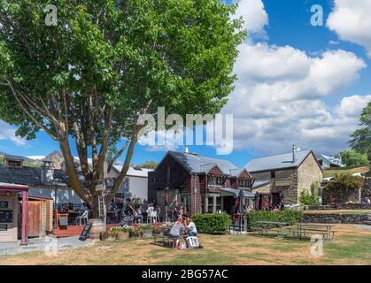 Buckingham green in the historic gold mining town of Arrowtown, New Zealand