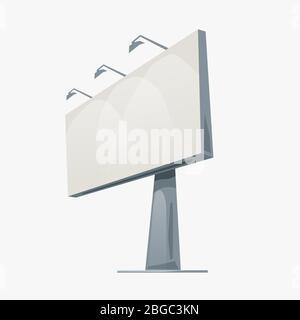 cartoon billboard isolated on white Stock Photo